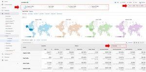 setup our view for geo locations in google analytics