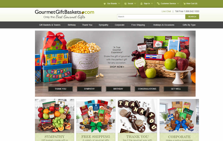 Gourmet Gift Baskets Portfolio Example